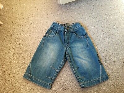 Boys BLUE DENIM NEXT shorts 4 Years Hardly Worn
