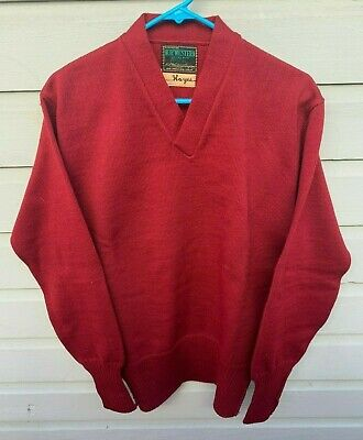 "Vintage 1940's 1950's H.L. Whiting ""Nor'Western Award"" Letterman Sweater Medium"