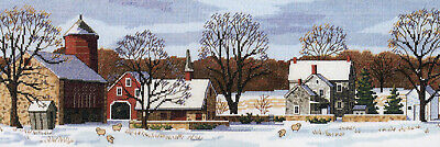 Cross Stitch Kit ~ Dimensions Amish Scenic Farm & Country House #3841