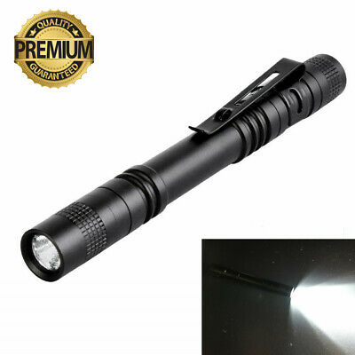 Tactical Flashlight LED Pocket Pen Light - Mini Torch Stylus PenLight with Clip