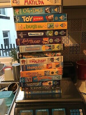 Joblot Videos Cert U Mermaid Flintstones Toy Story X15