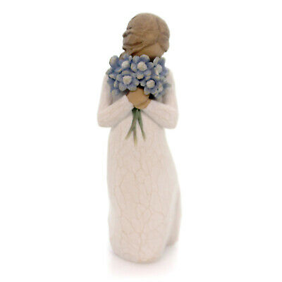 Willow Tree FORGET-ME-NOT Polyresin Flowers Caring Friends 26454 #