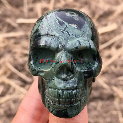 2'' Natural Peacock's eye Quartz Crystal Skull Carved Skull Reiki Healing 1pc