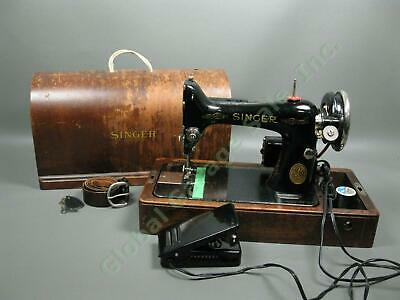Antique Vintage 1937 Singer Model 99 Sewing Machine Tested IWC Bentwood Case NR!