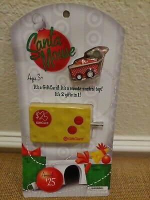 Vintage Santa Mouse Target Gift Card Remote Control Toy 2009 Collectible New