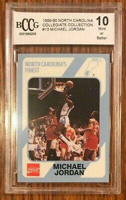 1990-91 Collegiate Collection #13 Michael Jordan North Carolina HOF BCCG 10