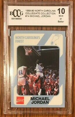 1990-91 Collegiate Collection #14 Michael Jordan North Carolina HOF BCCG 10