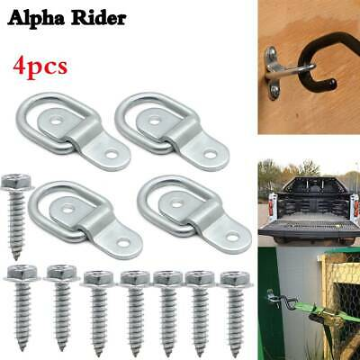 """4*Audew Hook 1/4"""" D-Rings Tie Down Ring Load Anchor Trailer Forged Lashing Truck"""