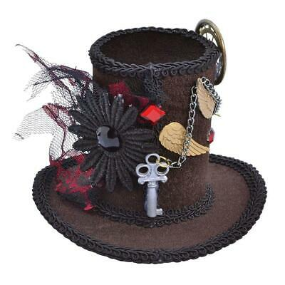 Bristol Novelty Womens/Ladies Steampunk Tall Top Hat Headpiece (BN810)