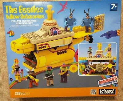 K'Nex The Beatles Yellow Submarine Building Set With Beatles & Blue Meanies New!