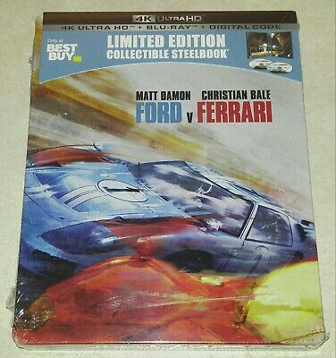 New Ford v Ferrari 4K Ultra HD + Blu-ray/Digital HD Steelbook™ Bestbuy Exclusive