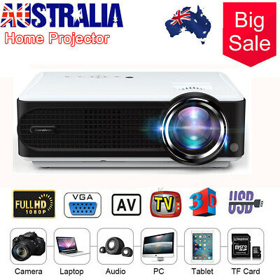1080P 4000LM Mini Video Theatre 3D Projector Home Cinema 1080P HDMl USB VGA TF