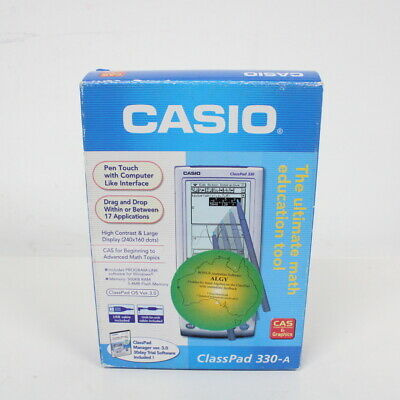 Casio ClassPad 330-A in Box with Pen, Cords, CD and Quick Start Guide #451