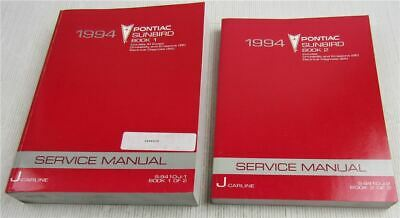 Service Manual 1994 Pontiac Sunbird incl SE GT Repair Manual Carline J