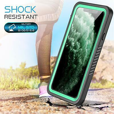 iPhone 11 Case Screen Protector 360 Full Body Heavy Duty Waterproof Black Green