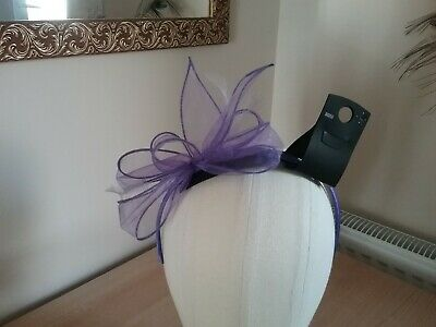 Ladies M&S Fascinator In Light Purple - On Headband