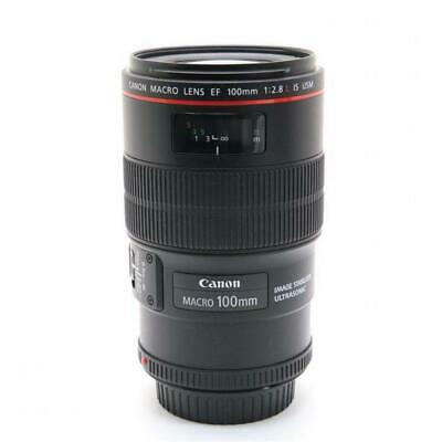[Mint] Canon EF100mm F2.8L Macro IS USM Tested with Pouch [Lens] #13 From Japan
