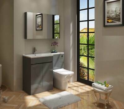 Veebath Gamma L Shape Light Grey Bathroom Vanity Unit Wc Furniture L R Hand 325 00 Picclick Uk