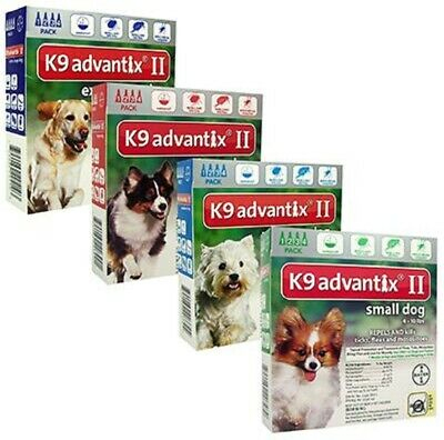 K9 Advantix II for Large Dogs 21 - 55 lbs - 6 Pack New - Free Shipping !!!