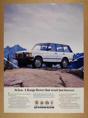 1991 Range Rover Classic Great Divide Edition vintage print Ad