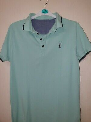 Boys green short sleeved polo Shirt by Next age 14 yrs