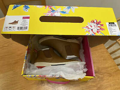 Joules Wellibob Size 5 Rainwell Short Welly Boots Tan 38 Boxed Cost £39.99