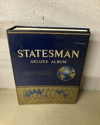 1984 Statesman Deluxe Stamp Album Collection Of 1000+ World Stamps