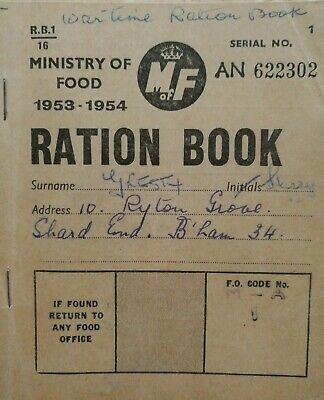 Ration Book. 1953-54