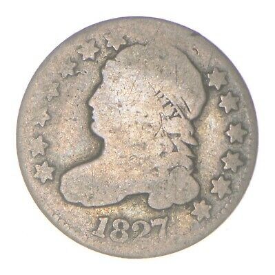 EARLY - 1827 - Capped Bust Dime - Eagle Reverse - TOUGH - US Type Coin *339