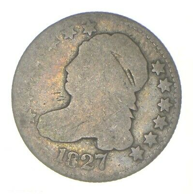 EARLY - 1827 - Capped Bust Dime - Eagle Reverse - TOUGH - US Type Coin *312
