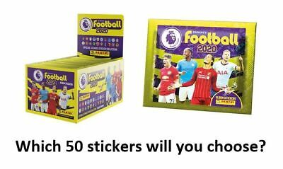 Panini Football 2020 Premier League Stickers - Choose 50 from a list of over 320