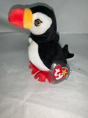TY Beanie Baby - MWMTs Stuffed Animal Toy PUFFER the Puffin 6 inch
