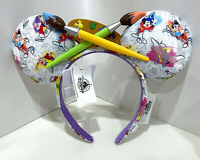 Disney Parks Ink and Paint Minnie Mouse Ear Headband NEW