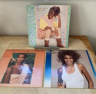 "Whitney Houston Vinyl Lot - LPs 12"" Single How Will I Know Dance Pop"