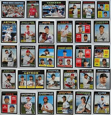Pre-Sell 2020 Topps Heritage Baseball Card Complete Your Set U Pick List 1-250