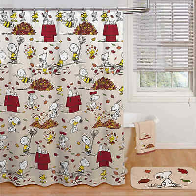 Peanuts beautiful 72x72 snoopy and Woodstock  Christmas shower curtain