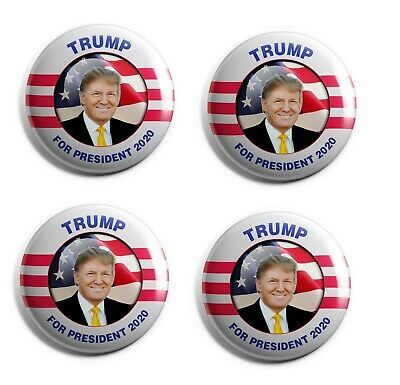 Donald Trump Buttons - Set of 4 Campaign Buttons (TRUMP-RM-001-X4)