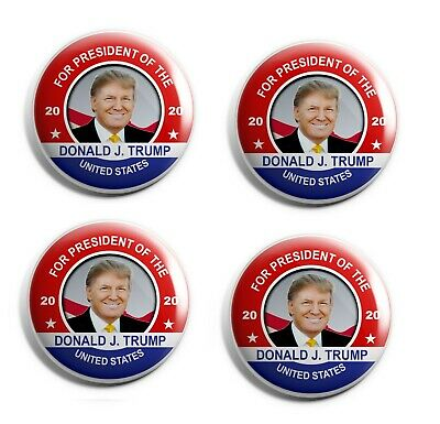 Donald Trump Buttons - Set of 4 Campaign Buttons (TRUMP-RM-005-X4)
