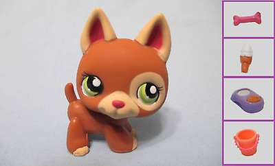 Littlest Pet Shop Dog German Shepherd 1362 and Free Accessory Authentic Lps