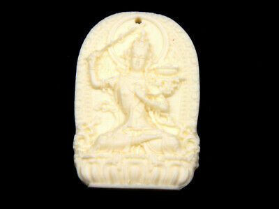 Quality Highly Detailed Hand Carved Pendant Ancient Tibetan Buddha #09011909