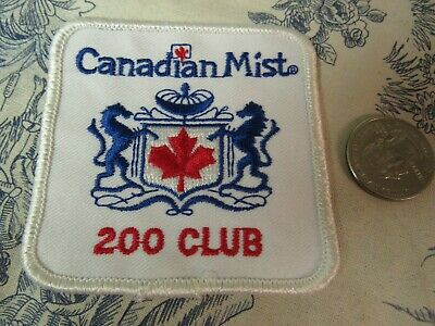 Vtg. Canadian Mist 200 Club Embroidered Souvenir Patch