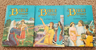 The Bible Story Book by Arthur Maxwell Volumes 3 - 6 - 9 Hardcover 1954 Vintage