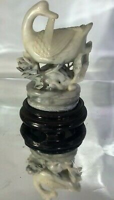 #19c state Chinese natural Stone Jade carved Jade statue good luck charm* Jade*