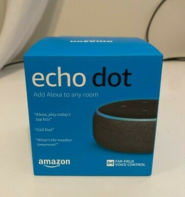 BRAND NEW Amazon Echo Dot (3rd Generation) Smart Assistant Speaker  - Charcoal