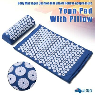 Acupressure Massage Yoga Mat with Pillow for Stress Pain Tension Relief Body