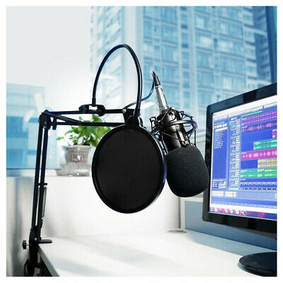 Professional Studio Broadcasting Recording Condenser Microphone With Mount Kit
