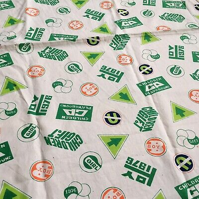 Vintage Children's Fabric - Signs and Logos - 1976