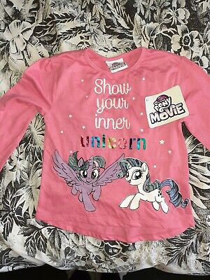 Pink Girls My Little Pony Movie Thin Jumper UNICORN age 5 Years BNWT
