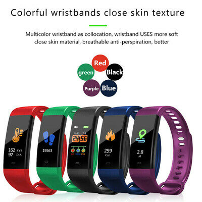 Smart Watch Fitness Tracker Fit Blutooth Step Caolorie Sport Android Iphone