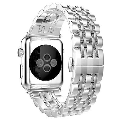 42mm-Sliver Metal Stainless Steel iWatch Band Strap For Apple Watch Series 3/2/1